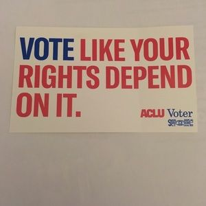 Political sticker Vote new collectible